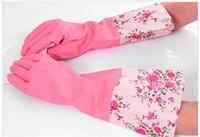 Wholesale household gloves dishwashing rubber gloves