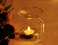 aroma art - Fashional Design and High Quality for Aroma Candle Glass Burner with Size of Breadth cm x Height cm
