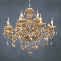 Wholesale Fashion New Luxury Chandeliers Crystal Chandeliers Lighting Lamp Lights Hotle Hall lighting by DHL