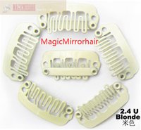 wig clips - 1000pcs metal snap clips hair extension clips U type clips for wig hair weft colour Blond colors available