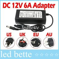 Wholesale 100 A W V Transformer Adapter AC V To DC V Charge For LED Strip Light CCTV Camera m Cable With EU AU US UK Plug