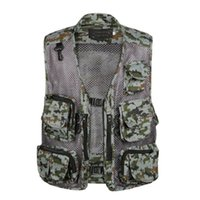 Wholesale High Quality Causal Sportswear Men Mesh Vests Multi Function Waistcoat Outdoor Hiking Photograph Fishing Jacket Vest Pockets
