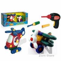 Planeadores de bricolaje Baratos-AirplaneHelicopters juguete Zorn tienda-extraíbles 1 juego montan un pequeño avión pequeño avión juguetes hechos a mano Planeador DIY juguetes educativos d eléctrica