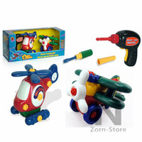 toy glider airplane - Zorn Store Removable toy airplane Helicopters set assembled a small plane small plane Glider Handmade toys DIY educational toys electric d
