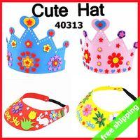 antique child hat - Deal Sets Handmade DIY EVA Hat Crown Sticker Production Art Craft Tool Children Kids Birthday Gift Activity items