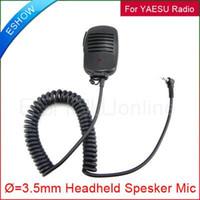 ats speakers - Handheld Speaker Mic for YAESU VX R VXF FT TSP ATS Talkie Walkie talkie two way CB Ham Radio J0023A