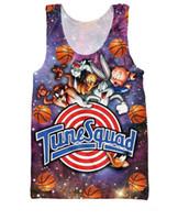 Wholesale w1215 Women Men Charmander Tank Top Space Jam Tune Squad Fashion Clothes Summer Vest