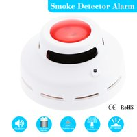 Wholesale High Sensitive Wireless Smoke Detector Alarm Sensor Monitor for Home Security Stable Standalone Photoelectric Fire Alarm order lt no track