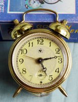 antique stock pin - Antique Stock Rooster brand pin half fine movement lace small mechanical alarm clock have the original packaging