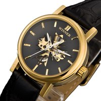 Wholesale Analog new automatic mechanical watches steampunk skeleton watch womens clock women mechanical