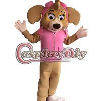 adult birthday costumes - Fancy Patrol Skye Mascot Cartoon Paw Patrol Mascot Adult Halloween Carnival Birthday Party Mascot Costume Custom Made