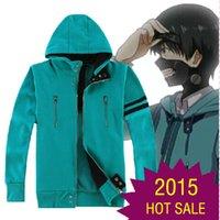 Wholesale Anime Tokyo Ghoul Kaneki Ken Cosplay Costume Unisex Hoodie Sweatshirt Hooded Sweat Shirts Coat Jacket