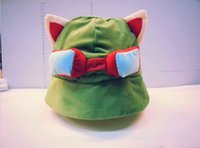 Wholesale League of Legends cosplay Teemo Hats party caps Plush Cotton LOL plush toys Hats lol party supplies