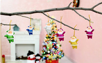 Wholesale Multi Color Little Santa Claus Gifts Small Old Man Hang Christmas Decoration Supplies Christmas Candy Gift