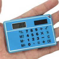 Wholesale 2015 New Arrival High Quality Special Offer Mini Double Power Supply Solar Portable Calculator Calculated Accurately