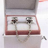 pandora bracelet - Heart Safety Chain Fashion Women Jewelry Silver Plated Lovely For Pandora Bracelet Charm Bead European Style