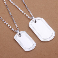 Wholesale High grade sterling silver Necklace Pendant Set elongated surface Men jewelry sets DFMSS365 Factory direct sale silver necklace