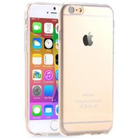 Wholesale 2015 New Ultra Thin Colorful Transparent Case For Apple iphone inch TPU Soft And Hard Clear Phone Back Cover Retail