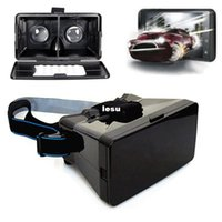 Wholesale Black Universal Virtual Reality D Video Glasses for to inch Phones Google Cardboard Movie Cinema Convenient