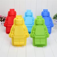 achat en gros de savon de moules-Big Robots Silicon Ice Cube Tray Gâteaux du savon Moules Moules moule en silicone Ice 300pcs