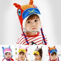 Wholesale Christmas Children Caps Hand Knitted Caps Kids Cap Wool Cap Baby Crochet Hats Boys Girls Caps Hats Animal Winter Hats Child Beanie Hat Caps