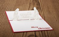Wholesale Cheap Christmas gift Creative three dimensional greeting cards Nativity D hollow handmade cards Birthday Wishes Christmas greeting cards