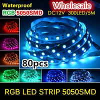 Wholesale 80pcs SMD LED Strip LEDs M DC12V M roll A dreamy color Red Green Blue White Warm White RGB Yellow Pink Purple