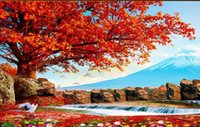 autumn leaves wallpaper - Custom photo wallpaper Large D sofa TV background wallpaper mural wall Autumn leaves drunk d mural wallpaper
