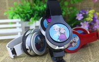 Wholesale free shpping new Retail Frozen Headset Princess Anna Elsa headphone kids Cartoon Olaf headband Earphone