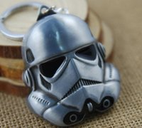 Wholesale Star Wars Anakin Skywalker Keychains stormtrooper Face Mask key chains Trooper Zinc Alloy keychain Ring Holder