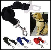 Wholesale 2015 New Adjustable Dog Cat Pet Car Safety Seat Belt Black Pet Belt for Dog Blue Safety Seat Belt Red Amy Green Dog Belt CW