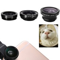angular contact - Lovefoto em Telefone celular Contact Lens Camera Macro Grande angular Fisheye Lens Kit Clipe