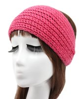 Wholesale Women s Fashion Wool Crochet Headband Euramerican Pop knitting Hair band Knitted Turban headband for women hair band hairband