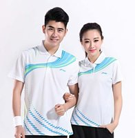 women's polo shirts - Breathable quick drying Men s and women s badminton sport T shirt