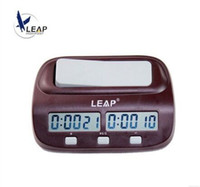 Wholesale Hot Digital Chess Clock Count Up Down Timer Electronic Board Game Player Set Master Tournament Man Piece Handheld Portable LEAP PQ9907