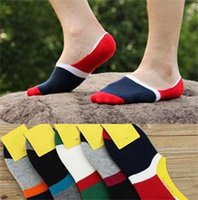 animal one liners - 2014 New Fashion One Pairs Men Contrast Color Blocking Socks Brand Men Loafer Liner No Show Low Cut Sock
