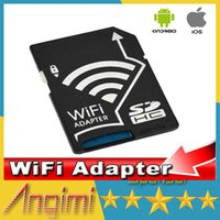 Wholesale Micro SD SDHC TF Card Adaptor for Apple IOS Android Support max GB microSD WiFi SD Adapter