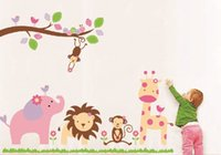 baby elephant zoo - Animal Zoo Lion Elephant Sticker Removable Wall Stickers for Baby Room home Decor Art Decoration Wallpaper
