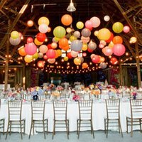 christmas paper lantern - Christmas Paper lantern Chinese round lantern cover wedding party lighting decoration