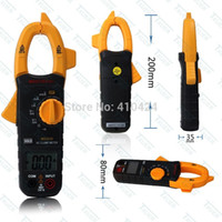 Wholesale MS2030 A A AC Digital Clamp Multi meter bit resistance two pipe break tester order lt no track