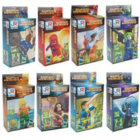 Wholesale 8 style Building Blocks movie Super Hero Avenger with Weapon Kid Baby Toy Building Blocks Sets Model Toys Mini figures toys E135L