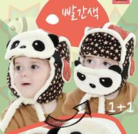 baby ski hats - Kids Boy Girl Winter Warm Panda Caps Cashmere Ear Fla Hats Ski Beanie Hats Baby Accessories M MZ2251