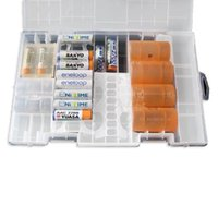 aa battery rack - Rack Transparent AA AAA C D V Hard Plastic Battery Case Holder Storage Box NVIE order lt no track