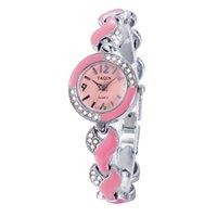 achat en gros de yaqin quartz-2015 marque nouvelle diamant / yaqin Yaqin demi-cercle de bracelet de mode haut de gamme regarder gros montres d'approvisionnement pour les femmes
