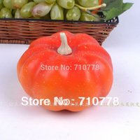 bathroom photography - 5pcs real touch Artificial vegetable fake pumpkins kitchen cabinet home decoration photography props small pumpkin