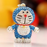 bag full of cats - 2014 South Korea imported pull A dream jingle cats key chain full of diamond ornaments package chain bag pendant cute girl