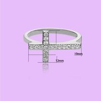 Wholesale 2014 new products green copper inlaid Cubic Zirconia Cross Ring