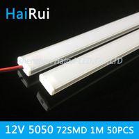 aluminium flat bars - pcsx100cm DC12V SMD LED Hard Rigid LED Strip Bar Light U aluminium flat cover kitchen cabinets lights led