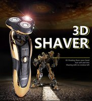 Wholesale New Men s Shaver Razor Electric D Floating Waterproof Safety Razor Three Straight Razor Head