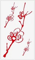 apricot products - Sex Products Temporary Tattoo For man Woman Waterproof Stickers makeup maquiagem make up Red apricot flower tattoo WM198